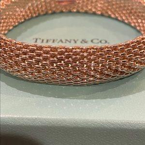 Authentic Tiffany& Co Somerset Mesh Bracelet Lg